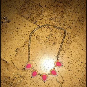 Pink, multicolored statement necklace